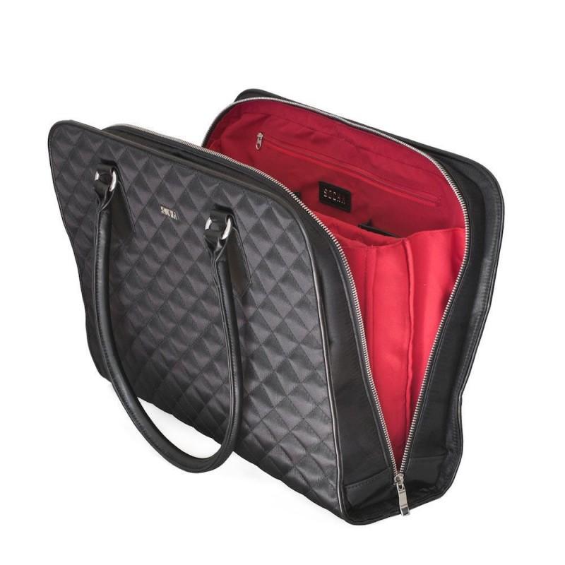 b809ab7e1d8 Laptoptas SOCHA (Sushi) Black Diamond Businessbag 15.6 inch Open