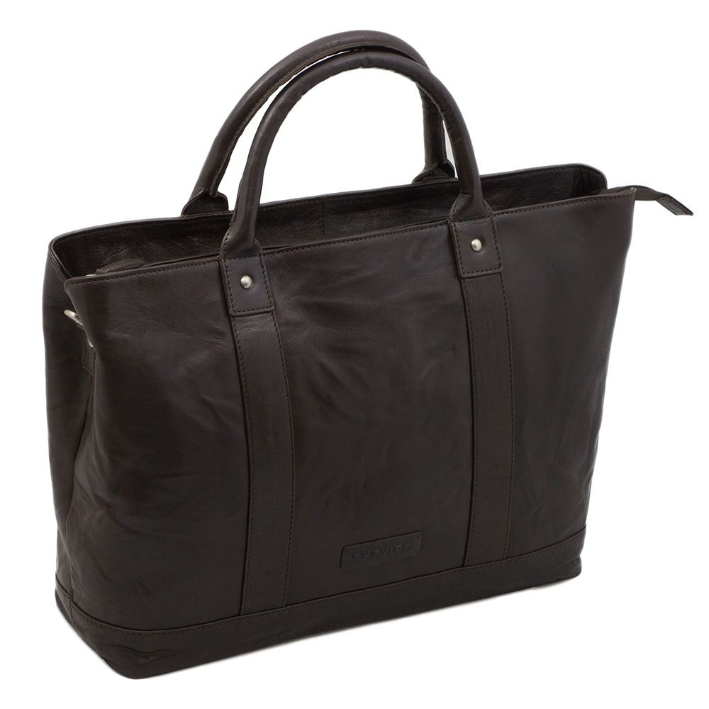 Macbook Tas Dames : Plevier leather dames business laptoptas donkerbruin inch