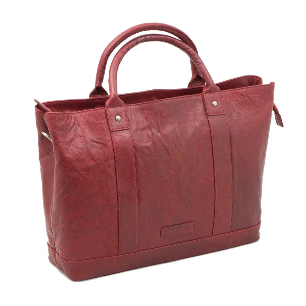 Macbook Tas Dames : Plevier leather dames business laptoptas rood inch