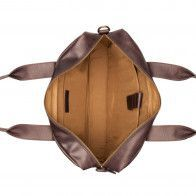 Burkely River Vintage Business Shoulderbag Brown 15 inch Binnenkant
