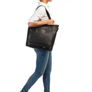 Burkely Jade Vintage Shopper Black 13 inch