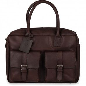 Burkely Finn Vintage Businessbag Classic Dark Brown 14 inch