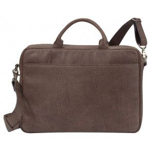Laptoptas Dolce Vita Brown 15.4 inch Voorzijde