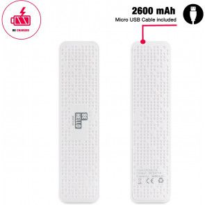 BeHello Powerbank 2600 mAh White packaging cable included