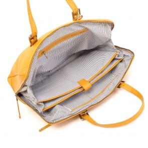 Berba Sport Anna Dames Laptoptas Mustard 14 inch Binnenkant