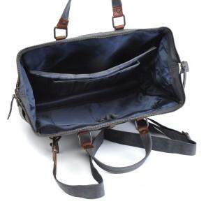 Berba Leren Laptoptas 15 inch Barbarossa Ruvido 826-170 Blauw Open