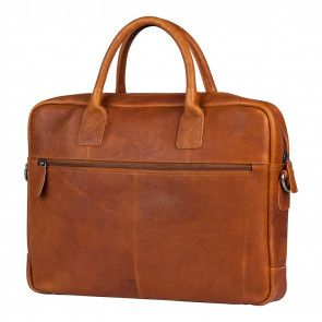 Burkely Antique Avery Laptoptas Cognac 15.6 inch Achterkant