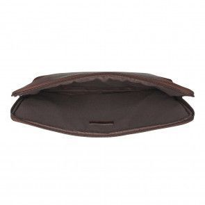 Burkely Antique Avery Laptop Sleeve Brown 13.3 inch Open