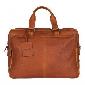 Burkely Antique Avery Workbag Cognac 15.6 inch Voorkant