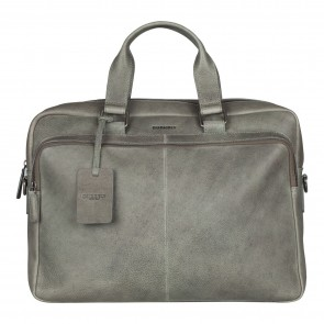 Burkely Antique Avery Workbag Grey 15.6 inch Voorkant