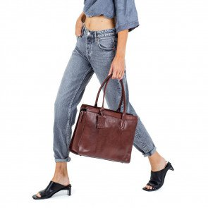 Burkely Leren Laptoptas Handbag 14 inch Suburb Seth Bruin Model