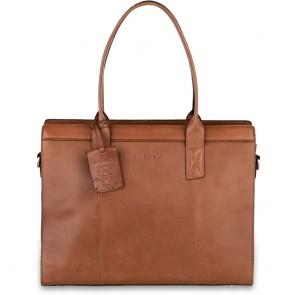 Burkely Leren Laptoptas Handbag 14 inch Suburb Seth Cognac Voorkant