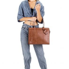 Burkely Leren Laptoptas Handbag 14 inch Suburb Seth Cognac Model