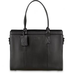 Burkely Leren Laptoptas Handbag 14 inch Suburb Seth Zwart Voorkant