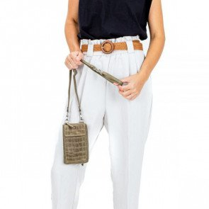 Burkely Dames Leren Phonebag Croco Caia Groen Model