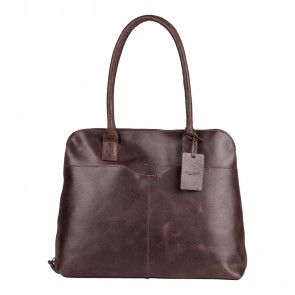 Burkely Demi Vintage Laptop Bag Brown 15 inch Voorkant