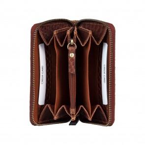 Burkely Eager Els Leather Wallet M Brandy Binnenkant