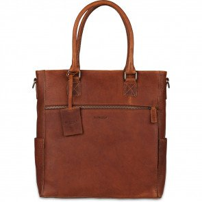 Burkely Leren Dames Shopper 13.3 inch Antique Avery Cognac Voorkant
