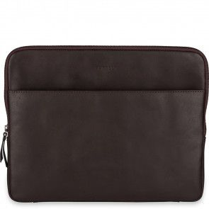 Burkely Leren Laptop Sleeve 13 inch Fundamentals Vintage Robin Bruin Voorkant