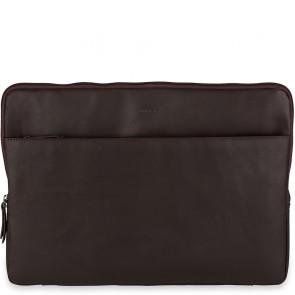 Burkely Leren Laptop Sleeve 15.6 inch Fundamentals Vintage Josh Bruin Voorkant