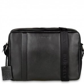 Burkely Leren Laptoptas Messenger 14 inch Suburb Seth Zwart Voorkant