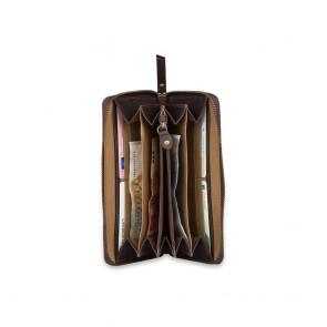 Burkely Leren Portemonnee RFID Fundamentals Vintage Charly Bruin Open