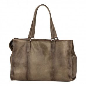 Burkely Noble Nova Handbag M Khaki Achterkant