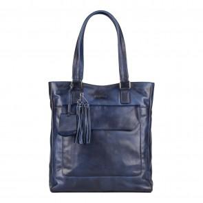 Burkely Noble Nova Shopper Blauw Voorkant