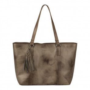 Burkely Noble Nova Wide Shopper Khaki Voorkant