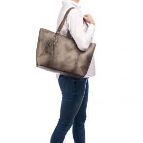 Burkely Noble Nova Wide Shopper Khaki Model