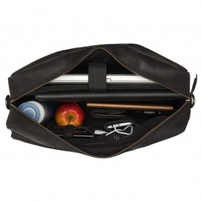 Burkely On The Move Laptopbag Flap Black 15 inch Open