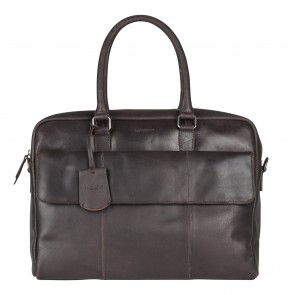 Burkely On The Move Laptopbag Flap Brown 15 inch Voorkant