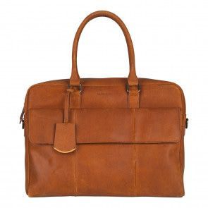 Burkely On The Move Laptopbag Flap Cognac 15 inch Voorkant