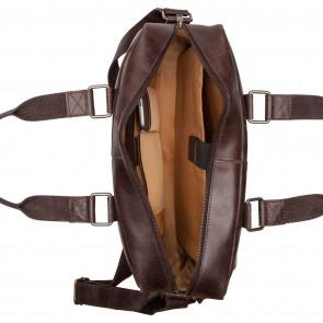 Burkely Quinn Vintage Business Shoulderbag Dark Brown 14 inch Open