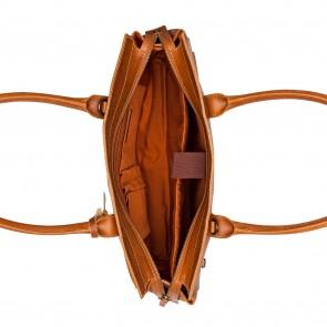 Burkely Valerie Vintage Business Schoudertas Cognac 16 inch Open