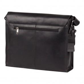 Burkely Mick Vintage Shoulderbag Classic Black 14 inch Achterkant