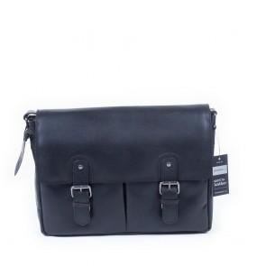 Burkely Glenn Vintage Shoulderbag Classic Black 14 inch Voorkant