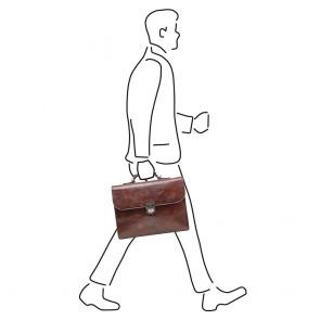 Castelijn & Beerens Heren Leren Laptoptas 13.3 inch RFID Rien Stefano Cognac Model