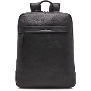 Castelijn & Beerens Leren Laptop Rugzak 15.6 inch RFID Onyx Bravo Zwart Voorkant