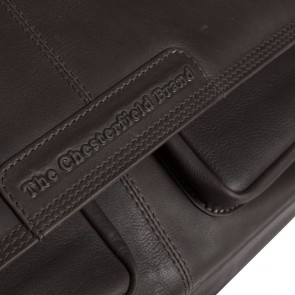 Chesterfield Dale Businessbag Brown 15 inch Detail