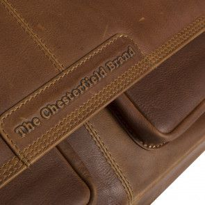 Chesterfield Dale Businessbag Cognac 15 inch Detail