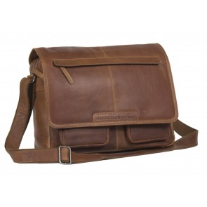 Chesterfield Dale Businessbag Cognac 15 inch Voorkant