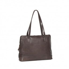 Chesterfield Flint Shoulderbag Large Brown Voorkant