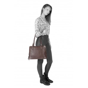 Chesterfield Flint Shoulderbag Large Brown Model