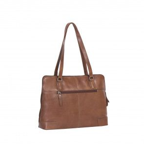 Chesterfield Flint Shoulderbag Large Cognac Achterkant