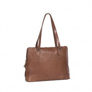 Chesterfield Flint Shoulderbag Large Cognac Voorkant