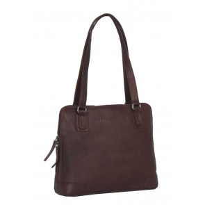 Chesterfield Flint Shoulderbag Small Brown Voorkant