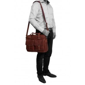 Chesterfield George Businessbag Cognac 15.6 inch Model