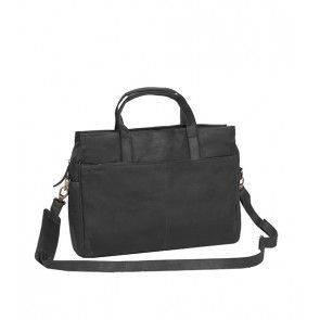 Chesterfield George Casual Businessbag Black 16 inch Voorkant