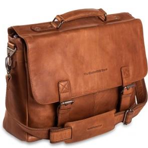 Chesterfield Leren Laptoptas Aktetas 15.6 inch Belfast Cognac Voorkant